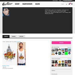 T-shirts and other products designed by an artist community of 2 million