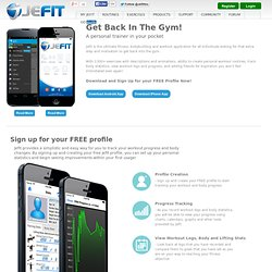Products | JEFIT - Best Android and iPhone Workout App, Bodybuilding App. | Best Workout Tracking System