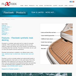 Products – Flexiteek boat flooring