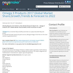 Omega 3 Products 2017 Global Market Share,Growth,Trends & Forecast to 2022