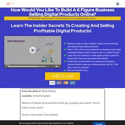 Create and Sell Your Own Digital Products The Easy Way