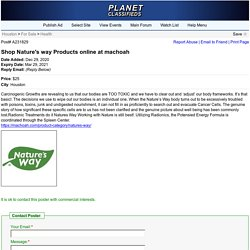 Shop Nature's way Products online at machoah - Houston