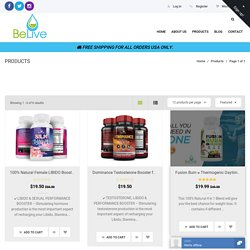 Products – BeLive Natural Supplements