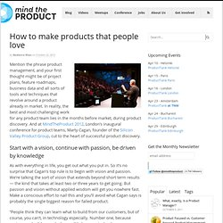 How to make products that people love