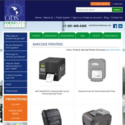 Products - Barcode Printers & Scanners - Barcode printers - Omni Data Services