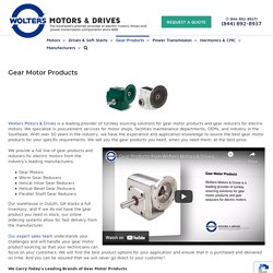 Gear Motor Products & Gear Reducers