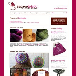 Products in store at Espace Tricot
