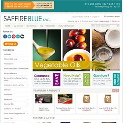 Soap and Lotion Making Products from Saffire Blue