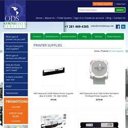 Products - Printer Supplies - Omni Data Services