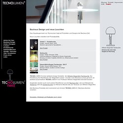 Bauhaus Design Products - Tecnolumen Homepage