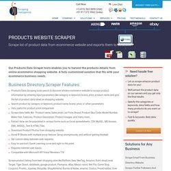 Products Website Scraper, Scrape Products Website