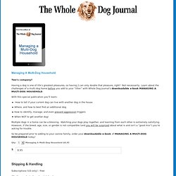Products - Whole Dog Journal