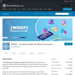 WOOF – Products Filter for WooCommerce – WordPress plugin