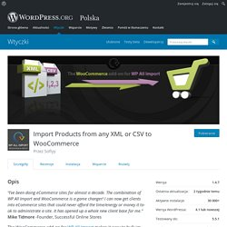 Import Products from any XML or CSV to WooCommerce – Wtyczka WordPress