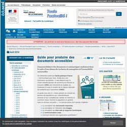 Guide pour produire des documents accessibles