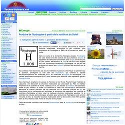 Produire de l'hydrogène à partir de la rouille et du Soleil