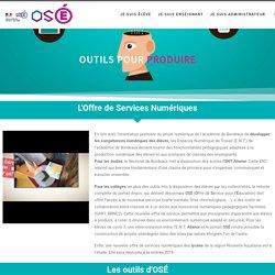 Des outils pour produire – Offre de services numériques