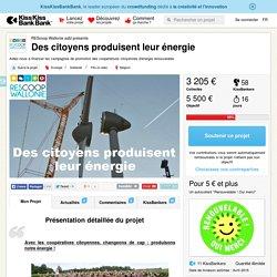 Des citoyens produisent leur énergie présenté par REScoop Wallonie asbl