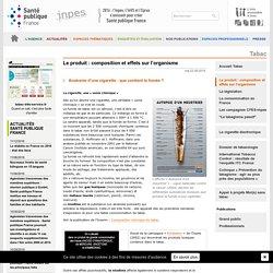 INPES - Tabac - Le produit : Le produit : composition et effets sur l'organisme