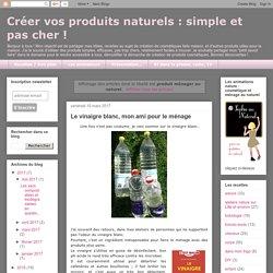 simple et pas cher !: produit ménager au naturel