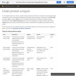 Codes produit uniques - Centre d'aide MerchantCenter