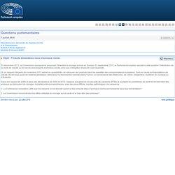PARLEMENT EUROPEEN - Réponse à question E-005570-16 Produits alimentaires issus d'animaux clonés