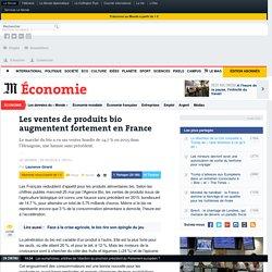 Les ventes de produits bio augmentent fortement en France