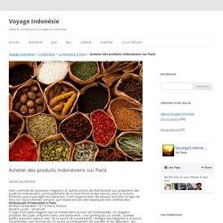Acheter des produits indonésiens sur Paris - Voyage Indonésie