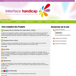 Produits - Interface Handicap Accessible