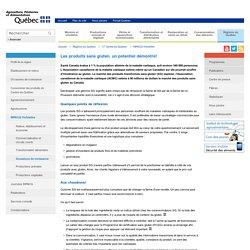 MAPAQ 04/03/14 Les produits sans gluten, un potentiel démontré!