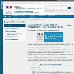 """Les produits """"Reconnus d'Intérêt Pédagogique"""" — ÉcoGest"""