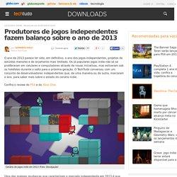 Produtores de jogos independentes fazem balanço sobre o ano de 2013