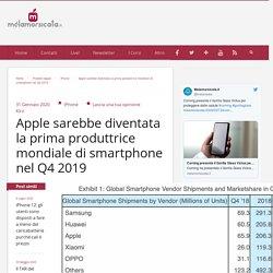 Apple sarebbe diventata la prima produttrice mondiale di smartphone nel Q4 2019
