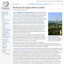 Produzione di energia elettrica in Italia