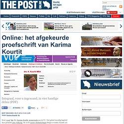 het afgekeurde proefschrift van Karima Kourtit - bert brussen
