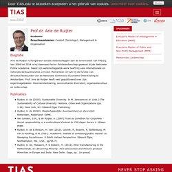 Prof.dr. Arie de Ruijter (Professor)