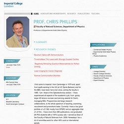Prof. Chris Phillips