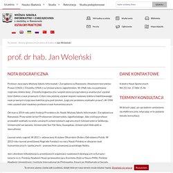 prof. dr hab.Jan Woleński