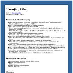 Prof. Dr. Hans-Jörg Uther
