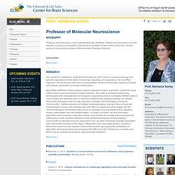 Personal web site of Prof. Hermona Soreq