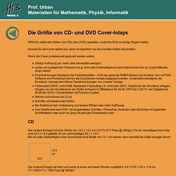 Prof. Urban - DVD und CD Covers