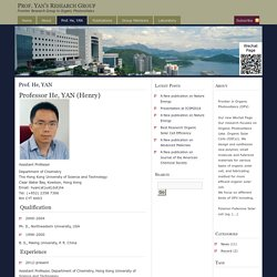 Prof. Yan's Research Group » Prof. He, YAN
