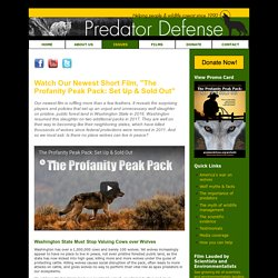 """""""The Profanity Peak Pack: Set Up & Sold Out,"""" a film from Predator Defense"""