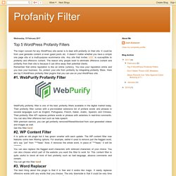 Top 5 WordPress Profanity Filters