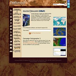 Software - Library Demo Versions - map making for game, historical and hobby mappers