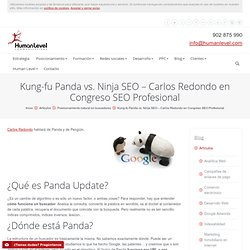 Kung-fu Panda vs. Ninja SEO - Carlos Redondo en Congreso SEO Profesional | Human Level Communications