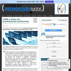 LOPD y datos de profesionales autónomos