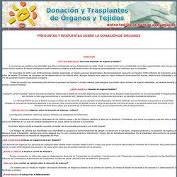 Manual de donación de órganos para profesionales sanitarios. Preguntas