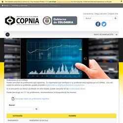 Copnia - Profesiones inspeccionadas