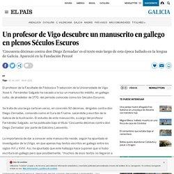Un profesor de Vigo descubre un manuscrito en gallego en plenos Séculos Escuros
